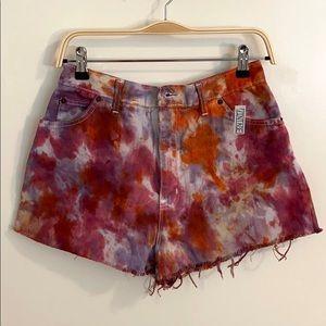 OOAK Vintage Hand Dyed Tie Dye Cutoff Shorts